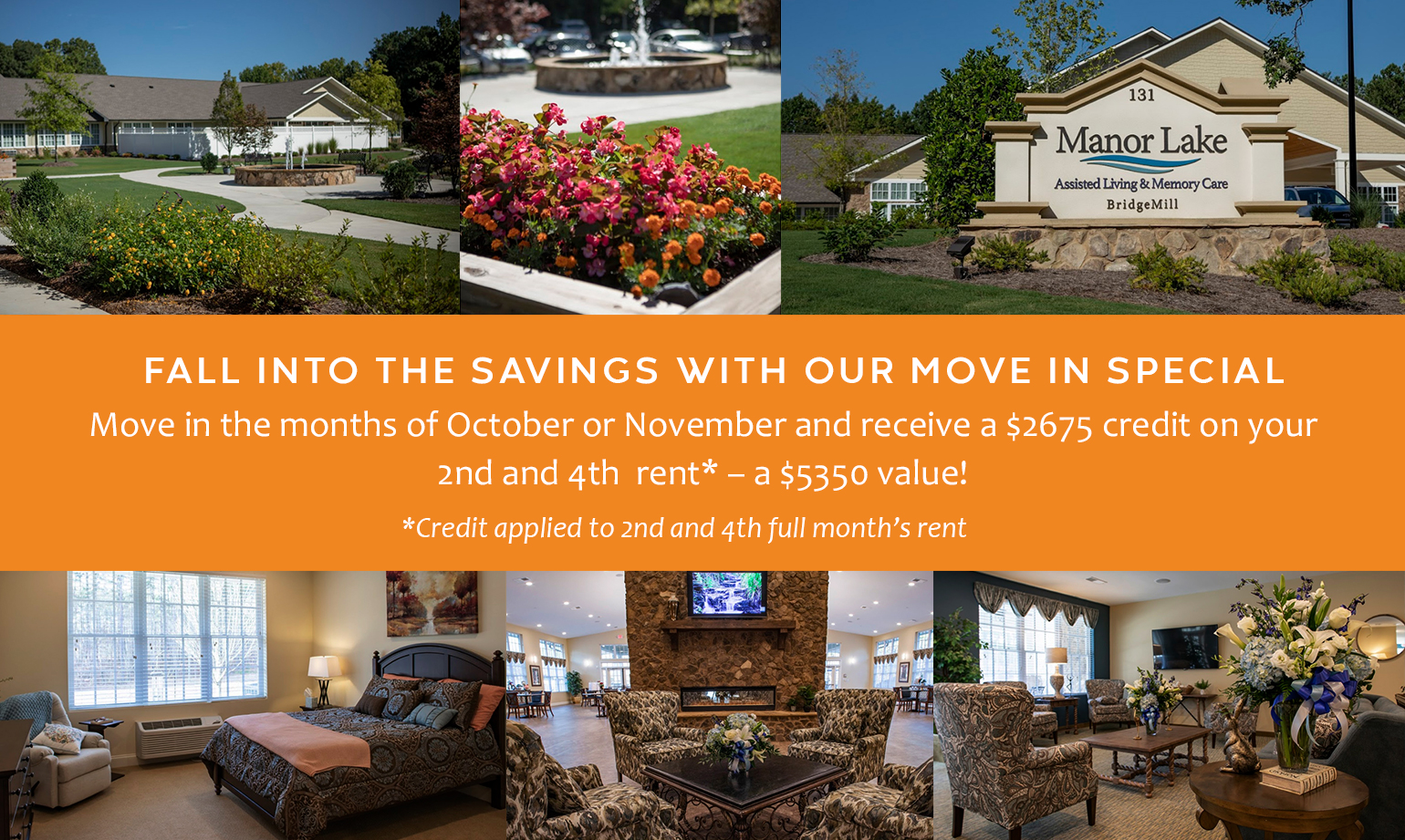 Fall into the savings with our move in special